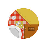 Flat vector icon for cafe or restaurant