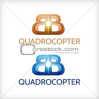 Abstract vector illustration of sign for Quadrocopter