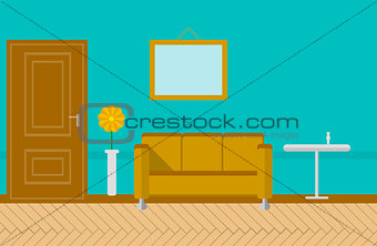 Flat vector illustration for sitting-room