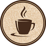 texture coffee cup icon