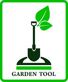 green garden sign