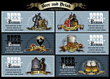 set of beer labels