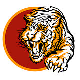 Roaring tiger logo design