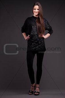Beautiful self-confident woman posing