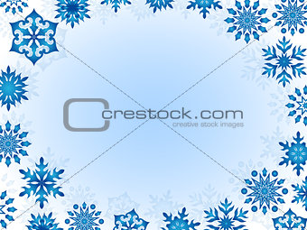 Greeting card with snowflakes