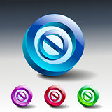 sign no stop ban warning icon