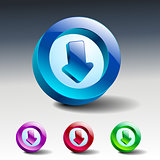 Arrow sign icon Simple internet button