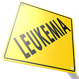 Road sign with leukemia