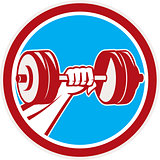 Hand Lifting Dumbbell Front Circle Retro