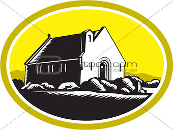 Church of Good Shepherd Lake Tekapo Retro