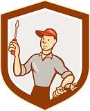 Electrician Screwdriver Plug Shield Cartoon