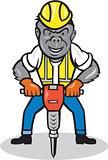Gorilla Construction Jackhammer Cartoon