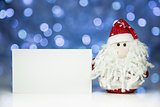 Santa Claus or Father Frost with white blank card