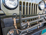 Front grille of an old army jeep