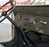 Dashboard of an old jeep