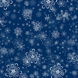Winter Snowflake Flat Background