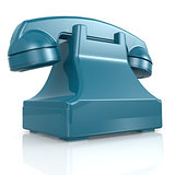 Blue isolated phone