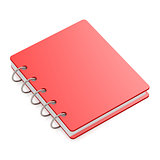 Red hard cover book