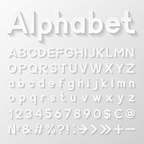 Decorative paper alphabet