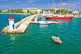 Zadar turquoise sea harbor view
