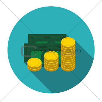 Money Flat Design Concept Vector  Illustration