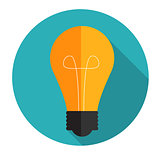 New Idea Flat Concept Vector Illustration