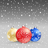 Christmas baubles gray bk