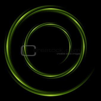 Abstract shiny swirl circle logo background