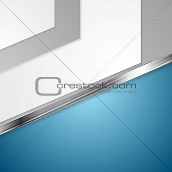 Corporate blue design with metal stripe