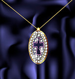 jewel pendant with cross