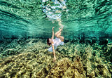 Fashion swimming underwater