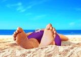 Men Feet at the Beach