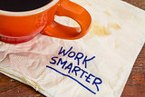 work smarter advice