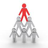 Hierarchy metaphor with human figures