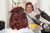 Hairdresser Dyeing Hair