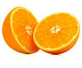 Orange fruit half