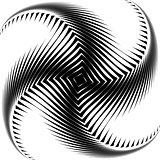 Design monochrome whirl octopus background