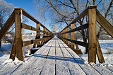 Pedestrian bridge in Suzdal, Russia,