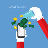 Mobile Payment Flat Concept Vector Illustration