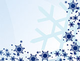 abstract snowflakes vector illustration art
