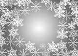 abstract snowflakes vector illustration art