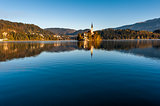 Lake Bled in the morning.