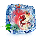 Ice and pomegranate