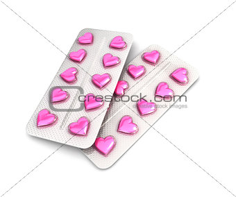 3d heart pills tablet
