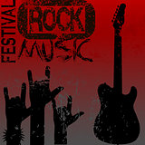 Rock music festival template