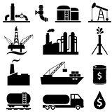 Oil petrol icon set