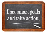 I set smart goals and take action
