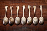 silver tablespoons with patina