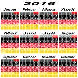 Germany calendar of 2016.