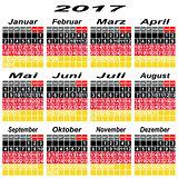 Germany calendar of 2017.